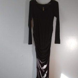 Long Black Maternity Dress